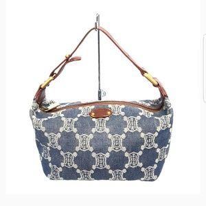 Celine Denim Monogrammed Mini Bag Tote